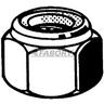 Zelfborgende zeskantmoer met kunststof ring ASME B18.16.6, NE UNF Elektrolytisch verzinkt ≥6